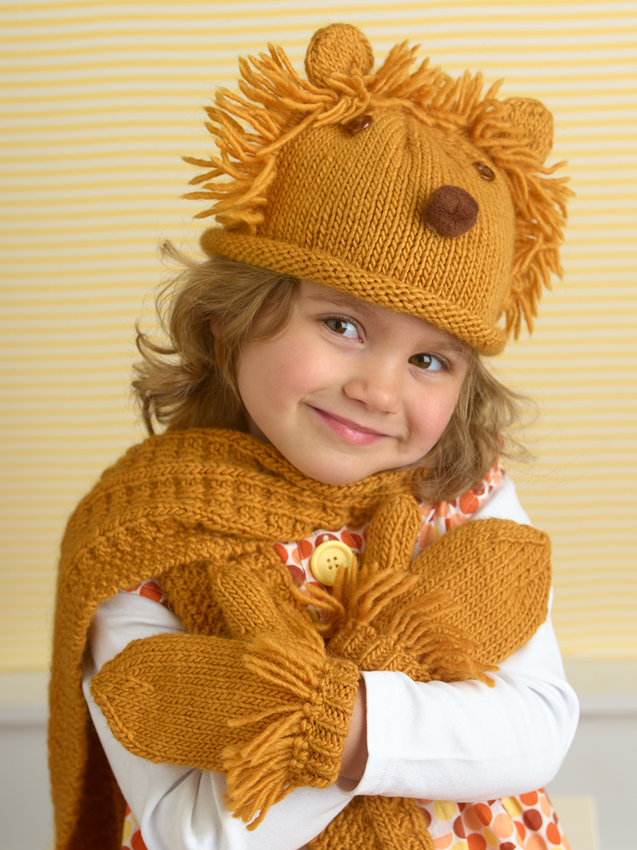 Knit Lion Hat