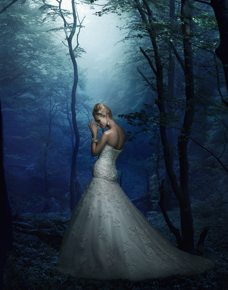 Bridal Fantasy Blue Forest