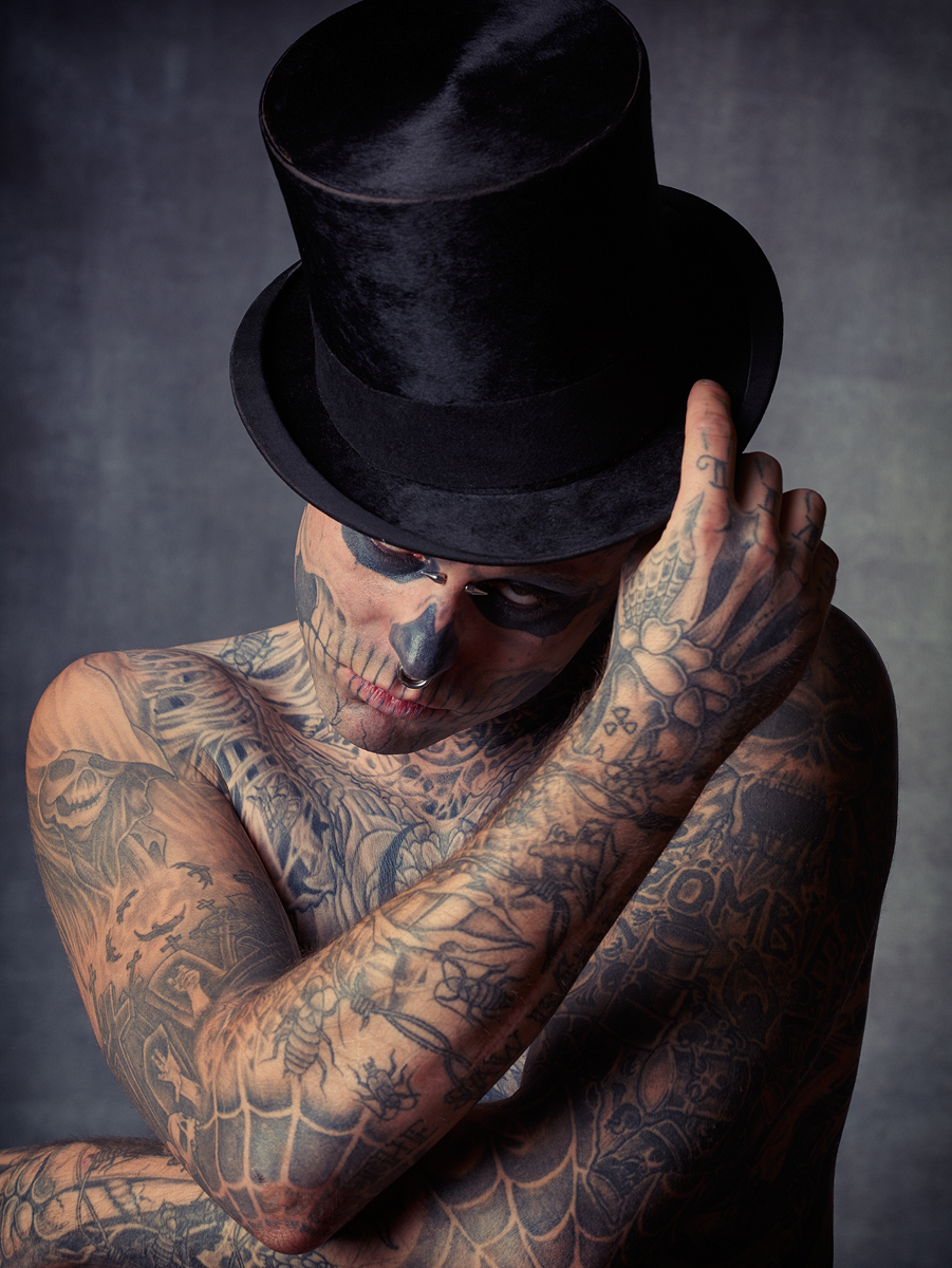 Zombie Boy Top Hat